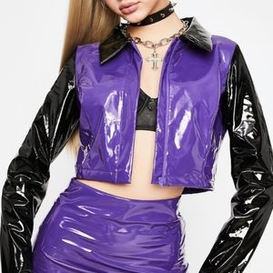 Purple Vinyl Jacket 💜